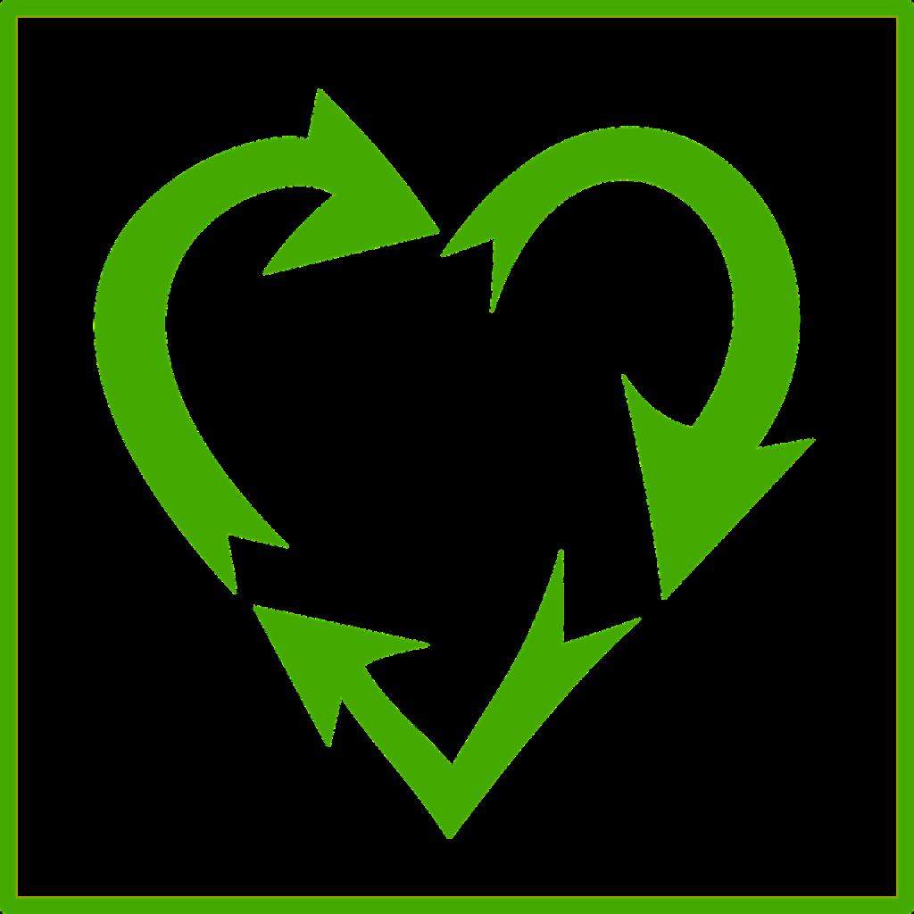 Grüne Pfeile in Herzform