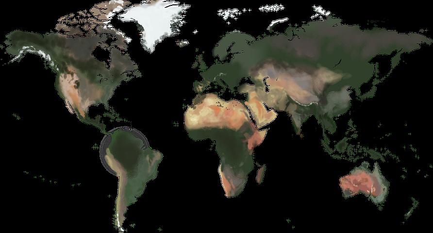 Bild einer Weltkarte