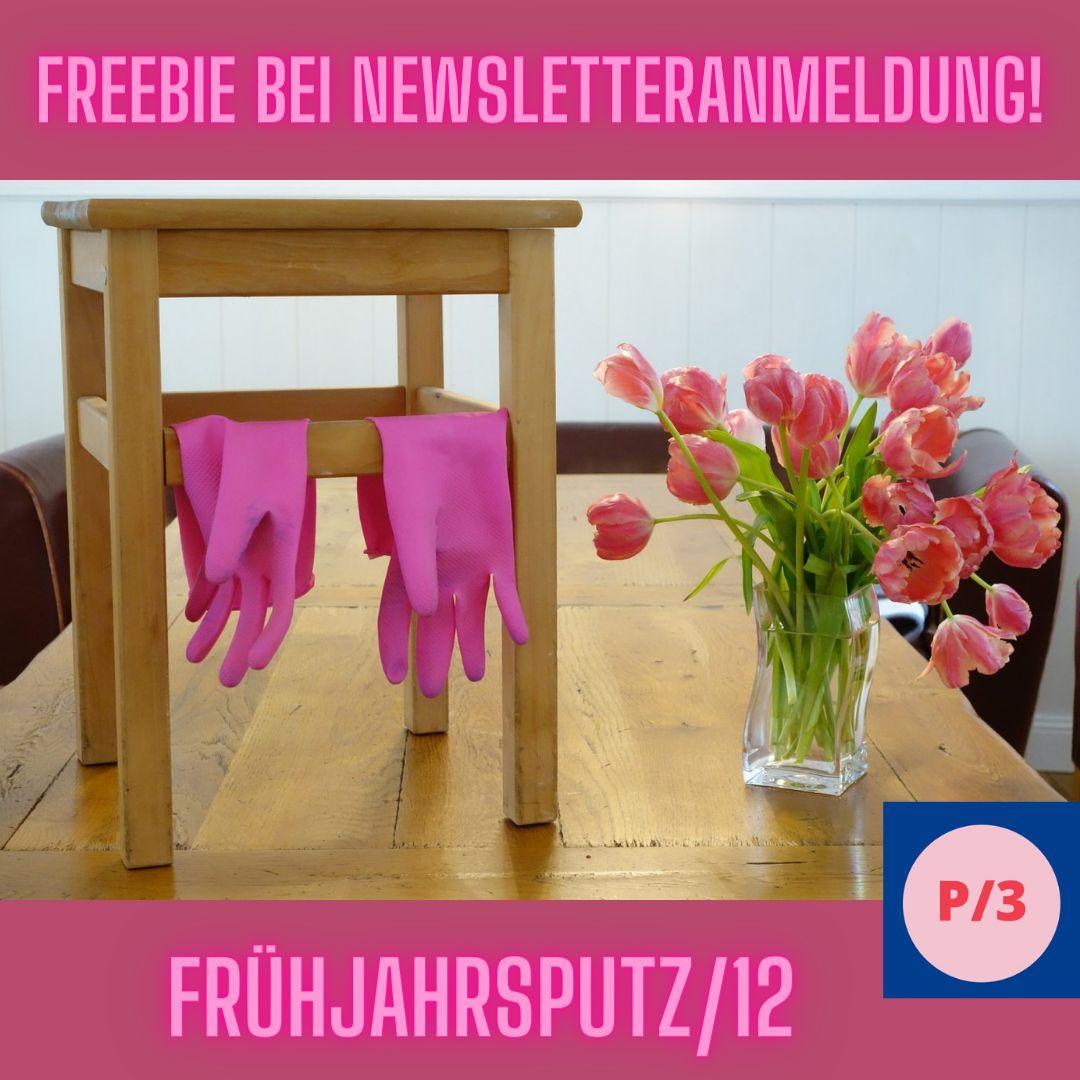 Freebie bei Newsletteranmeldung, Frühjahrsputz durch zwöfl