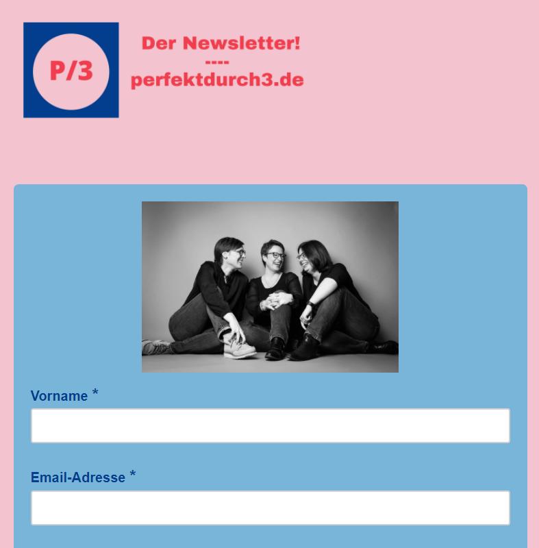 Bild des Anmeldeformulars für einen Newsletter