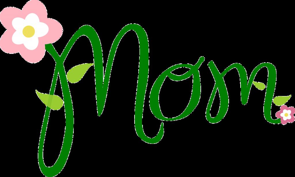 """grüner Schriftzug """"Mom"""""""